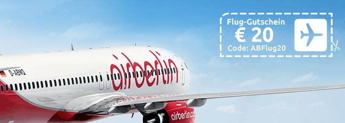 airberlin Sommer Special: 20€ auf ausgewählte Flüge sparen bei opodo.de