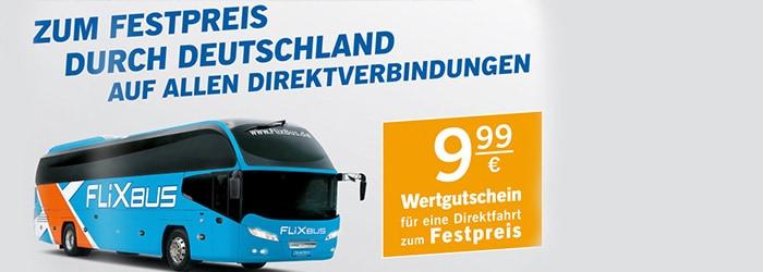 Lidl Flixbus: zum Festpreis durch Deutschland auf allen Direktverbindungen für 9,99€