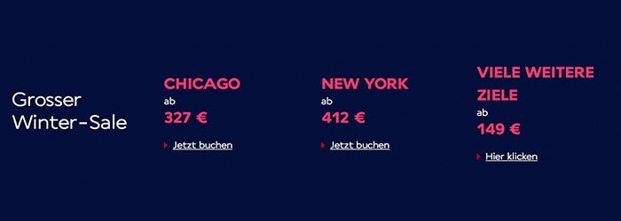 Air France Winter-Sale: Flüge nach Amerika, Asien oder Karibik 327€