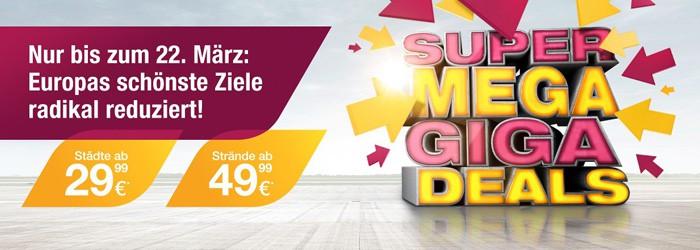 Reminder! Germanwings-Sale: Viele reduzierte Tickets ab 29,99€ pro Strecke, Flug + 2 Übernachtungen schon ab 153€