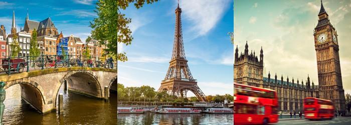 Tagesfahrt Schnäppchen: 1 Tag in Amsterdam, London oder Paris inkl. Busfahrt hin und retour ab 35€