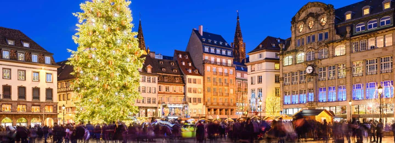 Strassburg Schifffahrt im Advent
