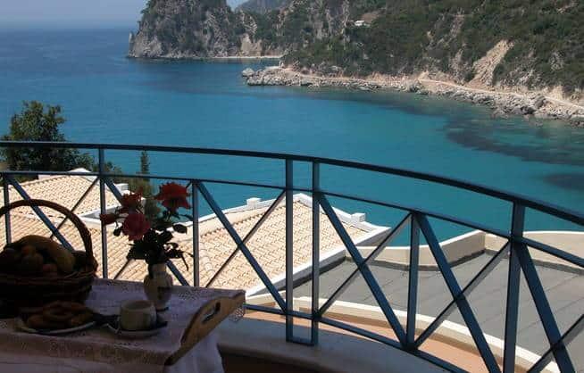 Korfu Urlaub Terasse