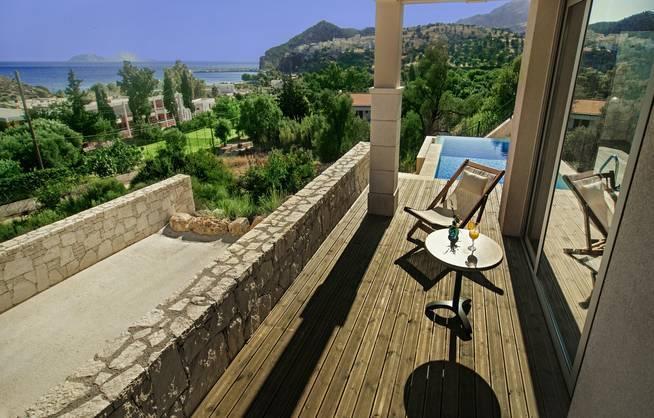 Hotel Irini Mare Kreta Terasse