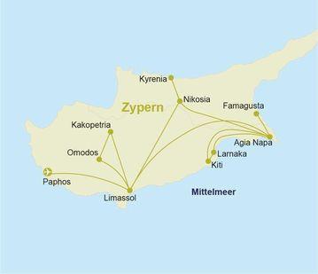 Zypern Rundreise Reiseverlauf