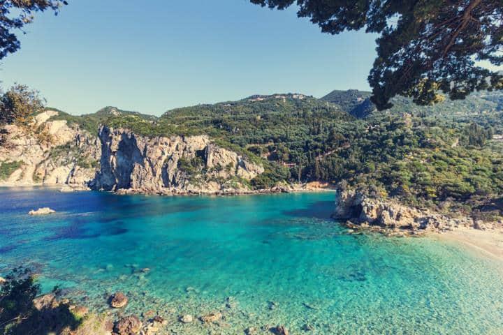 Korfu Urlaub Strand