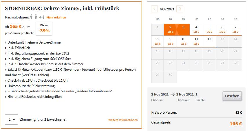 Schlosshotel Fleesensee Angebot